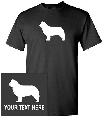 Newfoundland Dog Silhouette T-Shirt, Men Women Youth Kids Long Tank Custom Tee