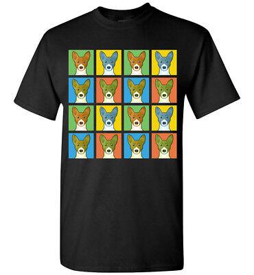 Basenji Dog Cartoon Pop-Art T-Shirt Tee - Men Women Youth Tank Short Long Sleeve (Dog Pop Art Tee T-shirt)