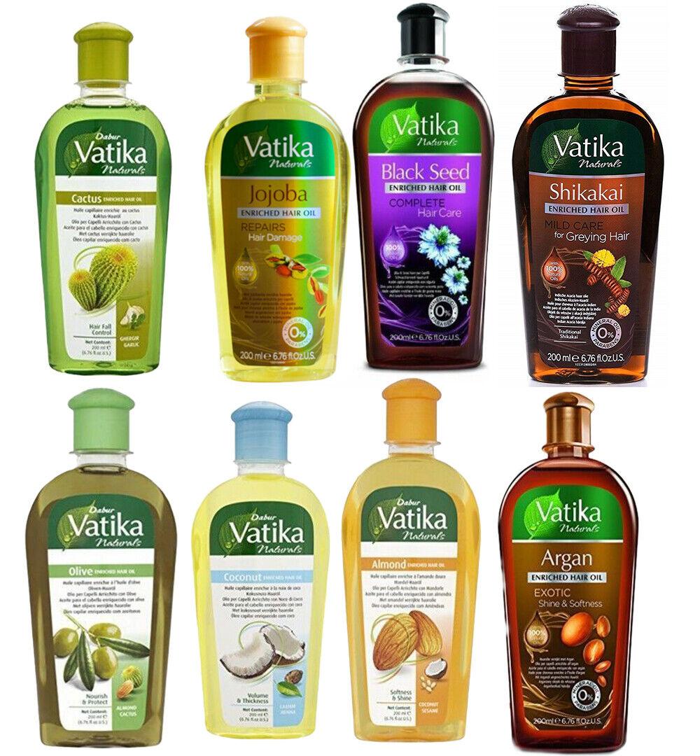 Dabur Vatika Naturals Enriched Hair Oil Haaröl Ayurvedische Haarpflege 200ml