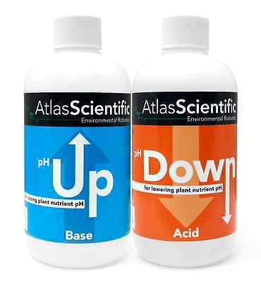 New Hydroponic Ph Control Kit Two Up And Down 8Oz Bottles Atlas Scientific