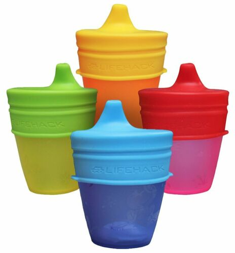 Sippy Cup Lids Silicone MrLifeHack 4pk Make Any Cup Bottle Spill Proof BPA Free
