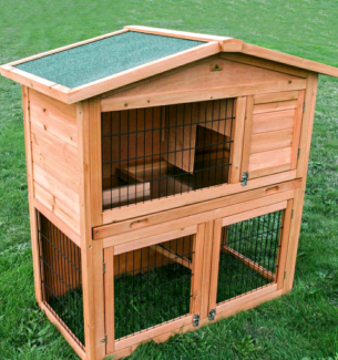 #♥NEW PITCHED ROOF RABBIT & GUINEA PIG HUTCH / CAGE PACKAGE DEALS