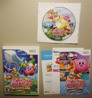 Wii KIRBYS RETURN TO DREAMLAND Nintendo Game COMPLETE EUC