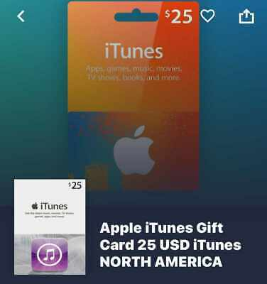 Itunes Gift Card Online 25$, used for sale  Shipping to Nigeria