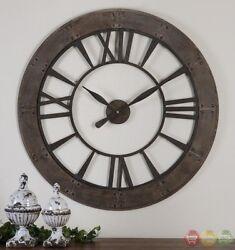 Ronan Wall Clock w/ Rust Gray Frame in Dark Rustic Bronze Finish, 40