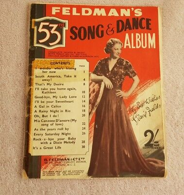 Vintage Piano Music Sheet - Feldman's 53rd  - Song and dance album