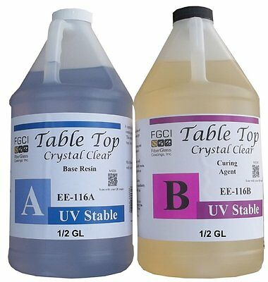 Epoxy Table Top Resin 1 Gallon Kit Crystal Clear Includes Part A B 135369