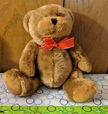 Proflowers Brown Teddy Bear Plush Toy  Red Bow