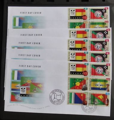 PAPUA New Guinea PNG 2004 FLAGS FDC Cover x 5(Pap 101)