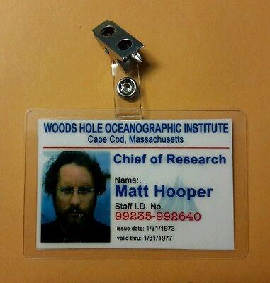 Maul Id Badge-Chief Of Research Matt Hooper Kostüm Cosplay - Hooper Kostüm