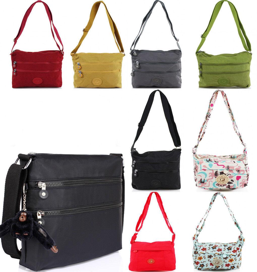 Women's Nylon Water Proof Shoulder Bag Light Weight Small Ha