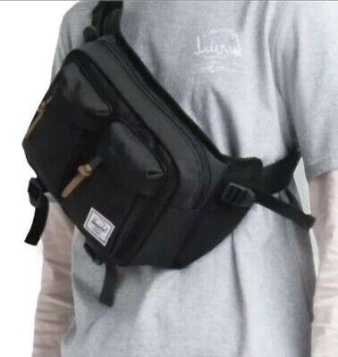 Herschel Supply Co. Eighteen Black Crossbody Sling Bag Hip Fanny Pack New Unisex