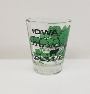 Collectors Iowa Shot Glass Farm