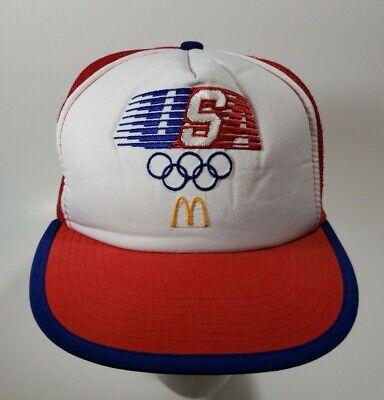 Vintage 1984 USA Olympics McDonalds Hat Snapback Trucker Cap