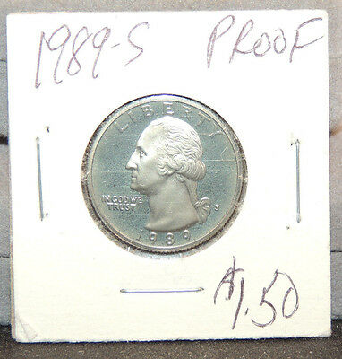 1989s Proof Washington Quarter 25c USA coin (11516b4)
