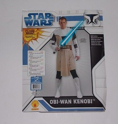 Star Wars Clone Wars Obi-Wan Kenobi Jedi Halloween Costume Mens XL - Used Star Wars Costumes