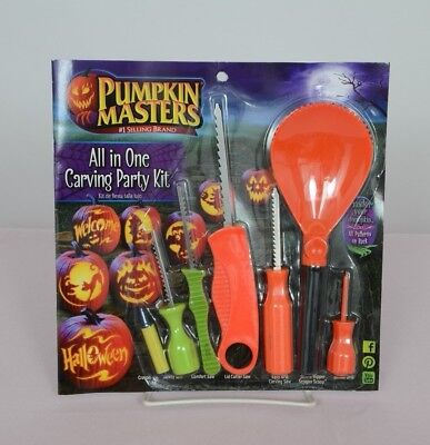Pumpkin Masters All In One Carving Party Kit Halloween Patterns Carving Tool New - Pumpkin Patterns Carving Halloween