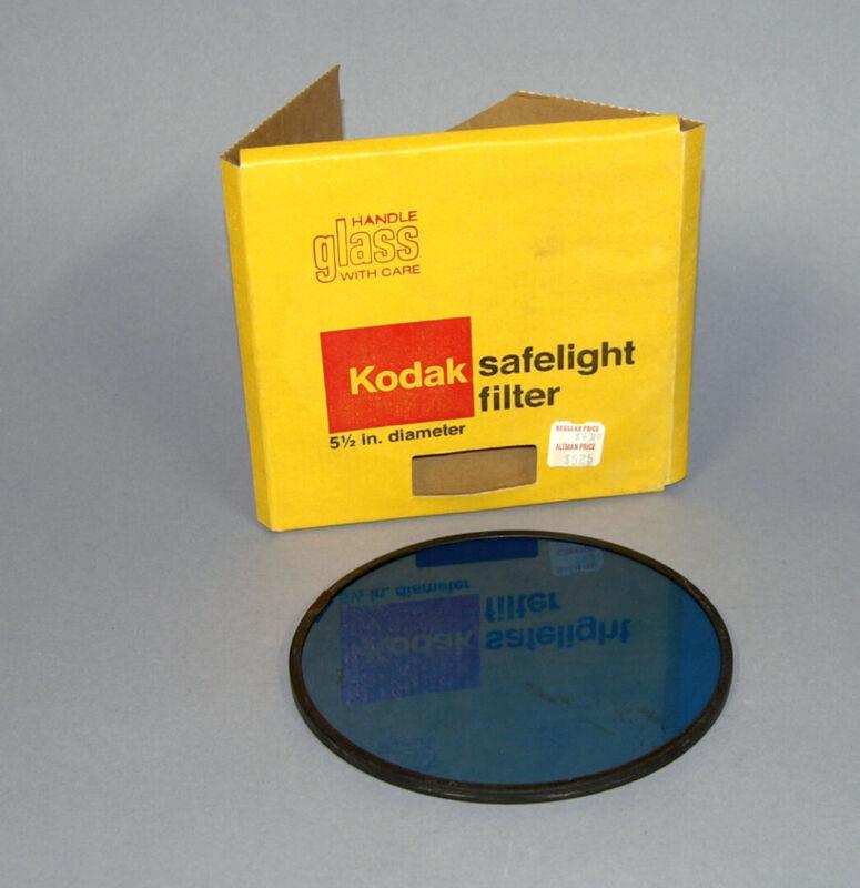 Kodak Safelight Filter - Blue/Green - 5 1/2 inch diameter in box