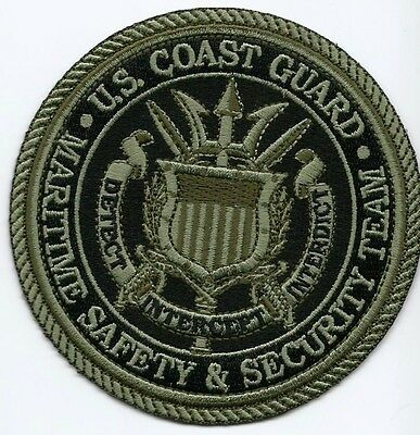 USCG United States Coast Guard Patch  Maritime safety&security team 4 in Subdued