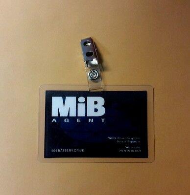 Men In Black ID Badge-Agent costume prop cosplay (B) MIB - Men In Black Costume