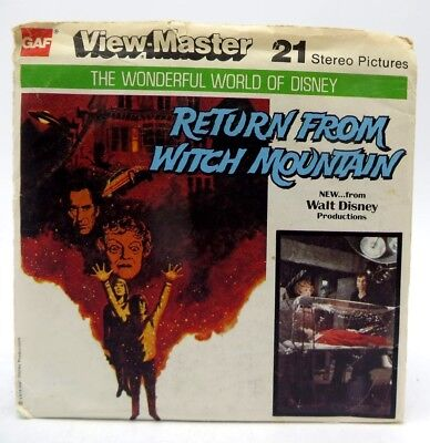 View-Master J25, Return From Witch Mountain Wonderful World of Disney 3 Reel Set