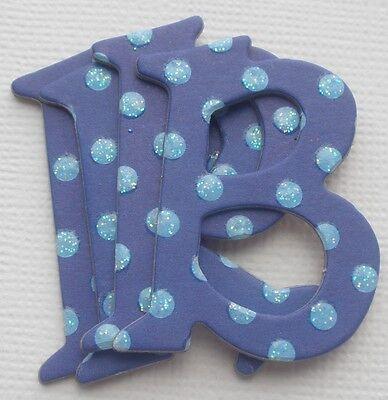 Best Creation - DARK BLUE - Polka Dot Chipboard Letters Die Cuts 1.5