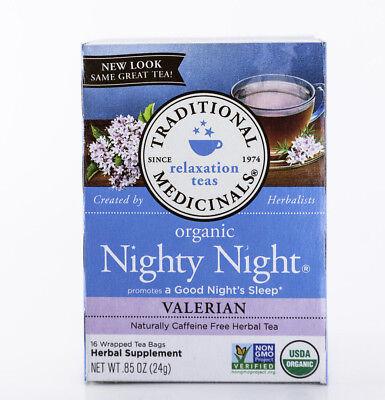 Traditional Medicinals - Organic Nighty Night Tea W/ Valerian- 16 Bags, .85 (Nighty Night Tea Bags)
