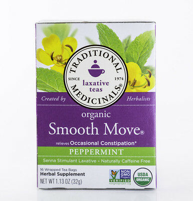 Traditional Medicinals - Smooth Move - Peppermint - 16 Tea Bags - Laxative
