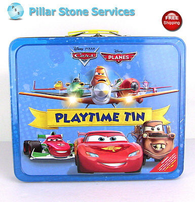 Disney Pixar Cars Planes Playtime Tin Activity Books - Complete - SHIP FREE