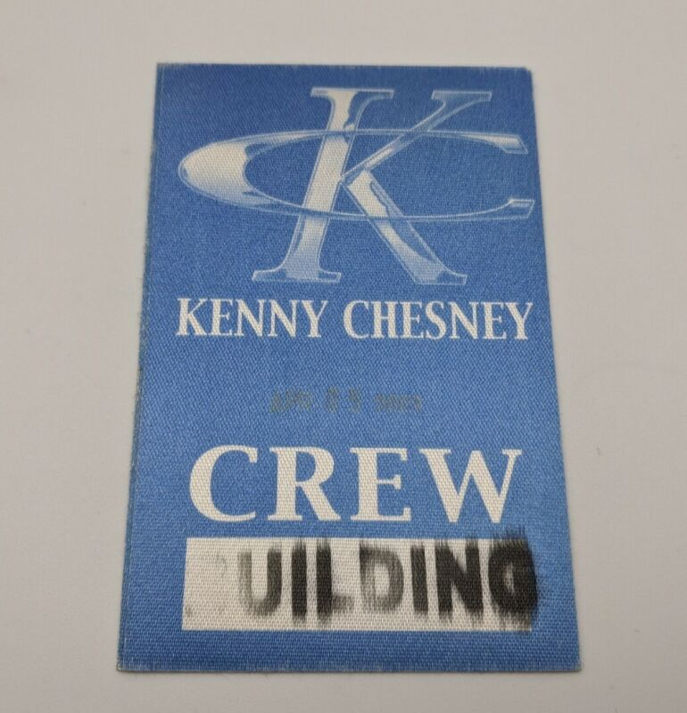 KENNY CHESNEY Backstage Pass World Concert Tour After Show VIP