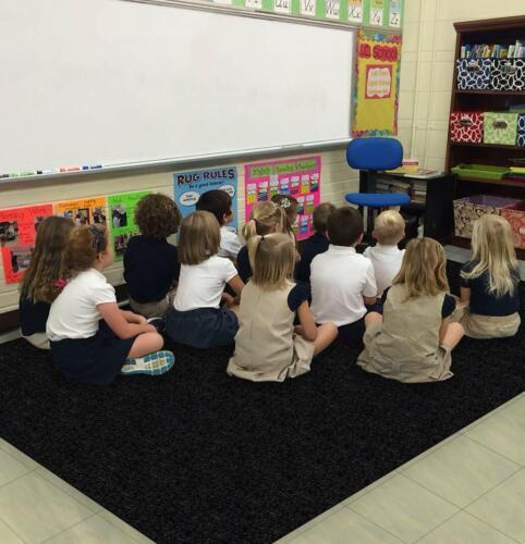 Tuxedo Kids Crazy Carpet Home & School Area Rugs   People & Pet Friendly