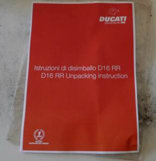Ducati Desmosedici Unpacking Instructions Wooroloo Mundaring Area Preview