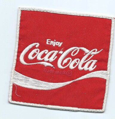 Coca-Cola Driver patch Jacket size 4-7/8 X 4-3/4