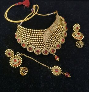 Indian Pakistani ladies artificial jewellery earrings necklace