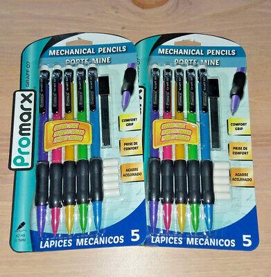 ☆ BEST DEAL 2x 5pk #2 Promarx Mechanical Pencils EXTRA Lead Erasers Comfort