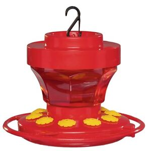 First Nature 3091 16 Ounce Hummingbird Nectar Flower Feeder- Made in the USA
