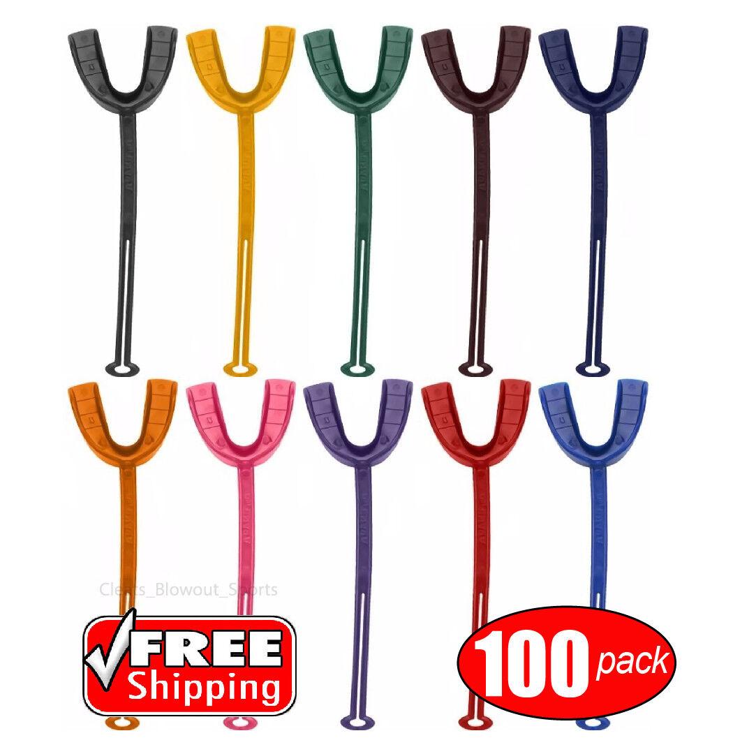 100 Mouth Guard Bulk Lot Mouthguard Piece Strap Colors Form