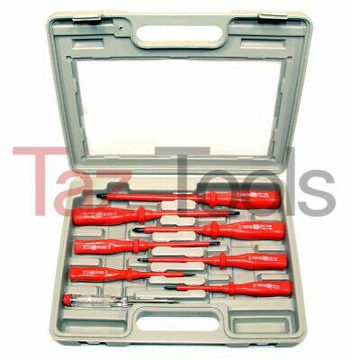 8 Pcs Insulated Screwdriver Magnetic Tip Set Main Electric Tester Electricians