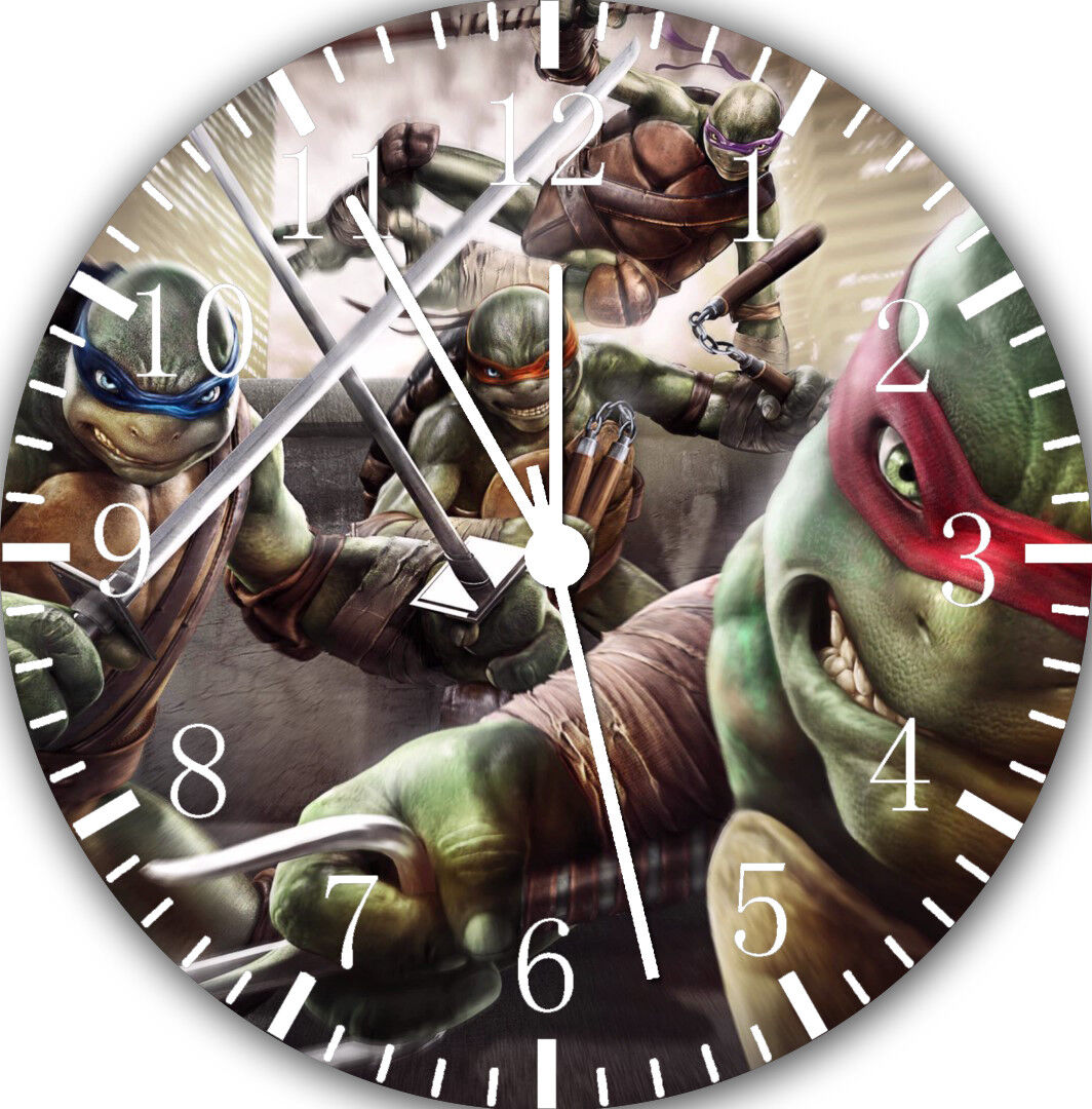Teenage Mutant Ninja Turtles Frameless Borderless Wall Clock Home Decor E36