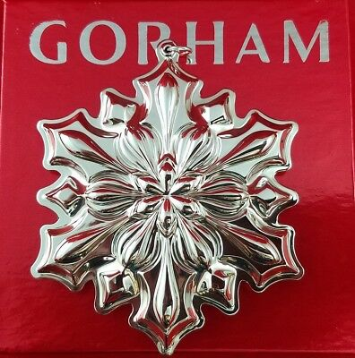 - Gorham 2018 Annual Sterling Silver Snowflake Ornament 49th Edition New In Box