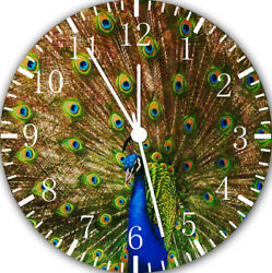 Peafowl Peacock Frameless Borderless Wall Clock For Gifts or Home Decor E114
