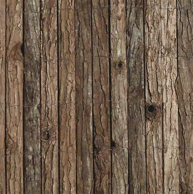 Bark Screen Fencing Roll Fence 1.5 M(H) x 3m(W) Bark Wood Privacy Blockout