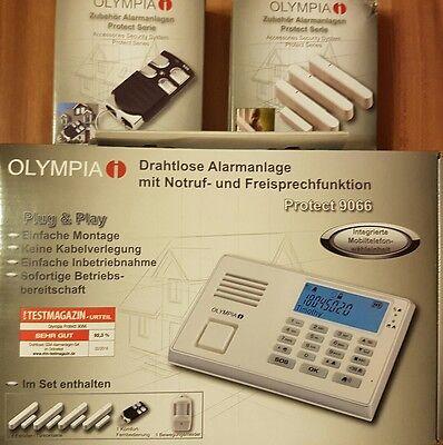 OLYMPIA Alarmanlage Protect 9066 GSM  Set Funkübertragung weiß NEU! OVP!