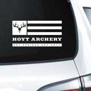 B208 TEAM HOYT ARCHERY HUNTING ARROW BOW WHITE VINYL DECAL CAR TRUCK SUV LAPTOP
