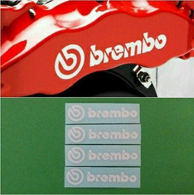 BREMBO Brake Caliper HIGT TEMPERATURE Decal Sticker Set of 4 (White)