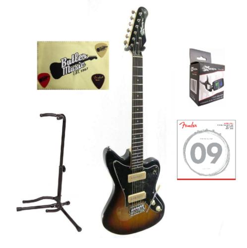 Effin Guitars JZM/SB Gloss Sunburst Offset Body Electric Gui