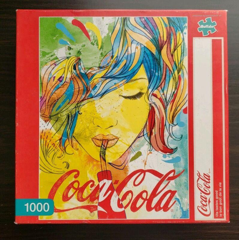 """RARE 2015 Coca Cola 1000 Piece Puzzle By BUFFALO """" Life Tastes Good"""" Collectors"""