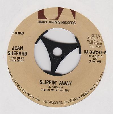 """JEAN SHEPARD ~ Slippin' away/ Think I'll go somewhere ~ US release 7"""""""
