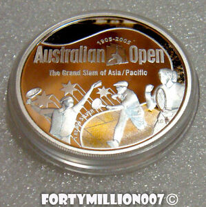 Australia 2005 $1 Australian Open Tennis Championship 100 Years 1oz Silver