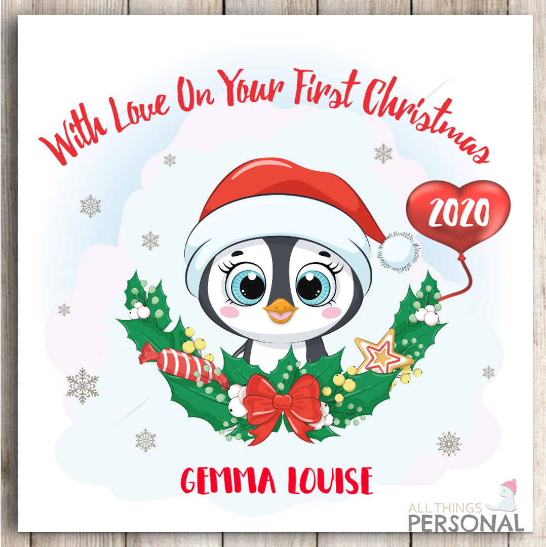 First Christmas Card Baby Son Daughter Grandson Granddaughter Personalised Card